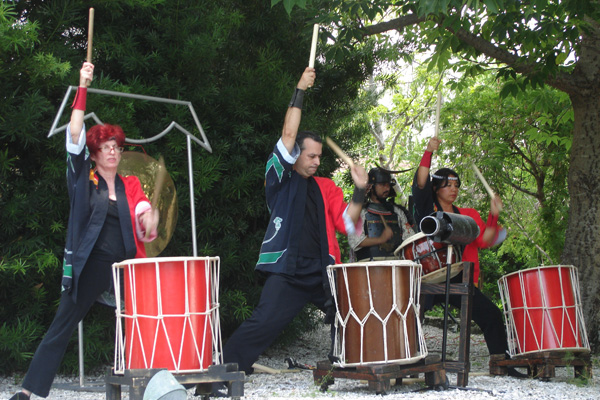 Japanese Drummers in the Garden